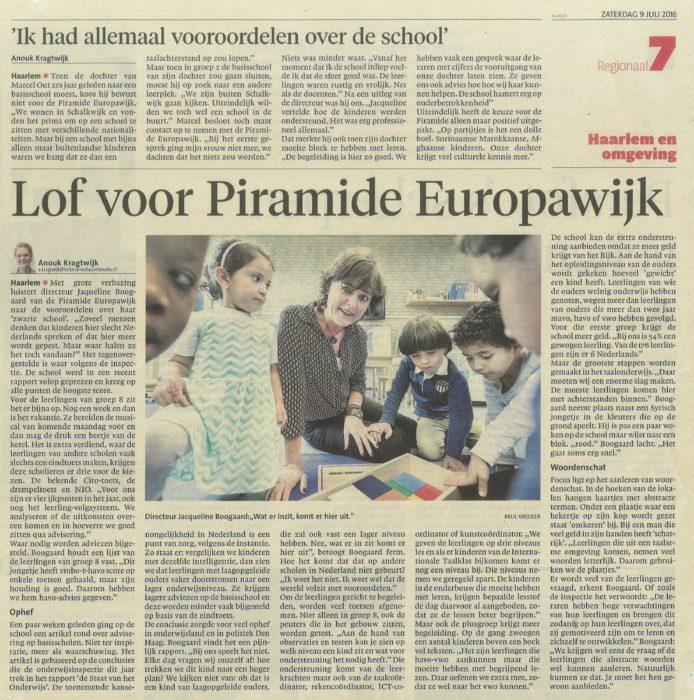 TOP- Inspectiebezoek op Piramide Haarlem!